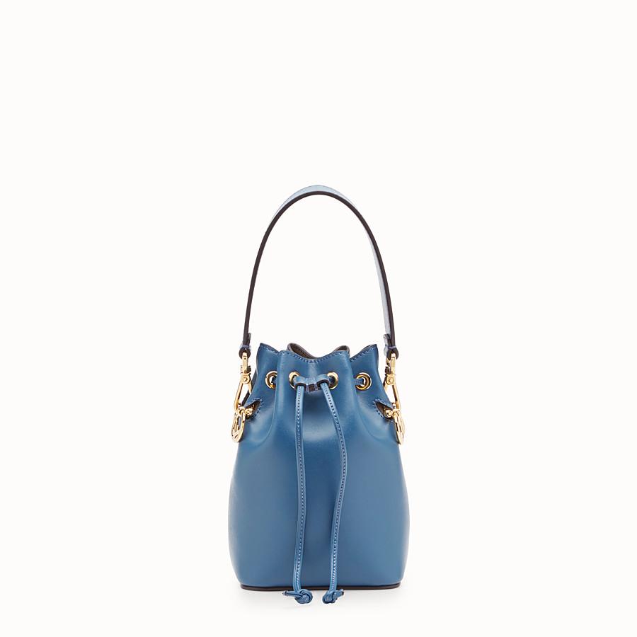 634fa369c4b7 Blue leather mini-bag - MON TRESOR