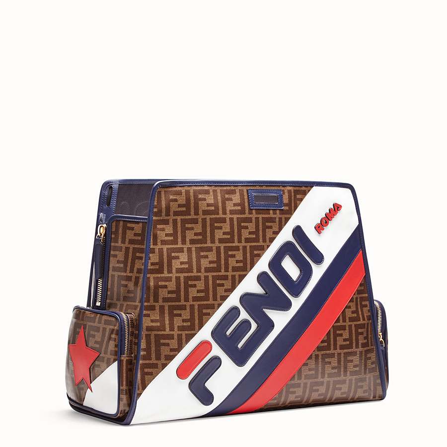 FENDI PEEKABOO DEFENDER - Glazed brown fabric cover - view 2 detail