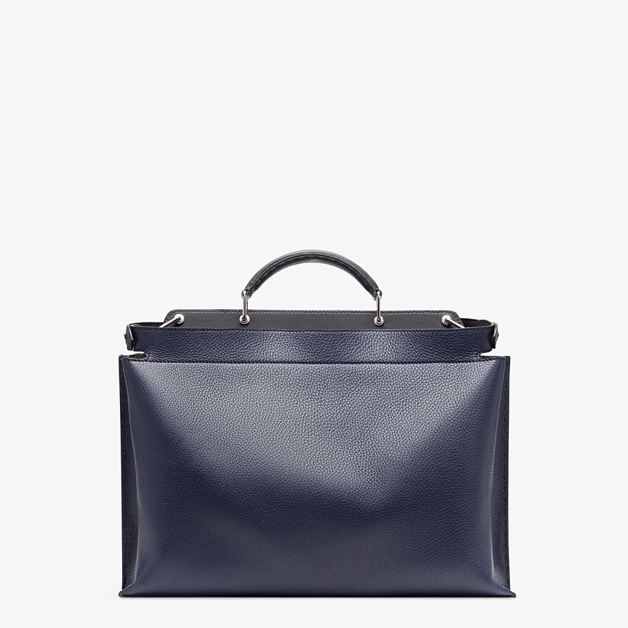 FENDI PEEKABOO ICONIC ESSENTIAL - Blue leather bag - view 3 detail