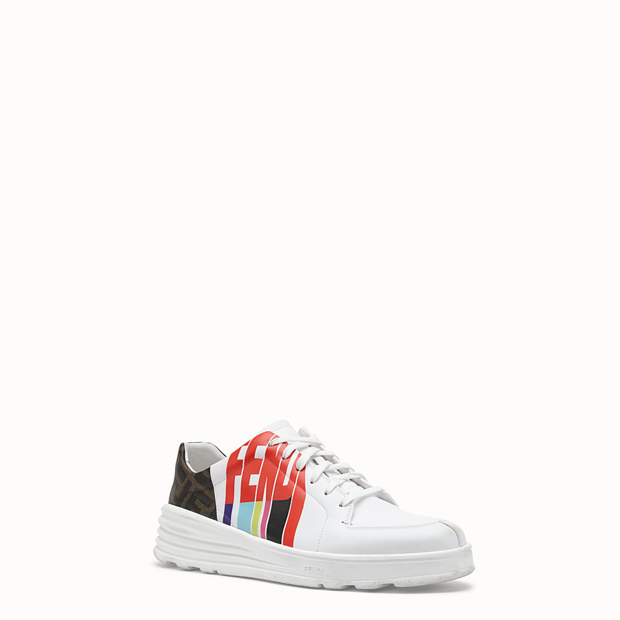 FENDI SNEAKERS - Fendi Roma Amor leather low-tops - view 2 detail