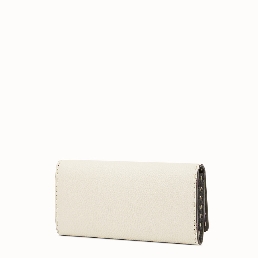 FENDI WALLET - Selleria white and grey continental wallet - view 2 detail