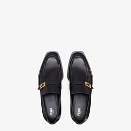 FENDI LOAFERS - Black leather loafers - view 4 thumbnail