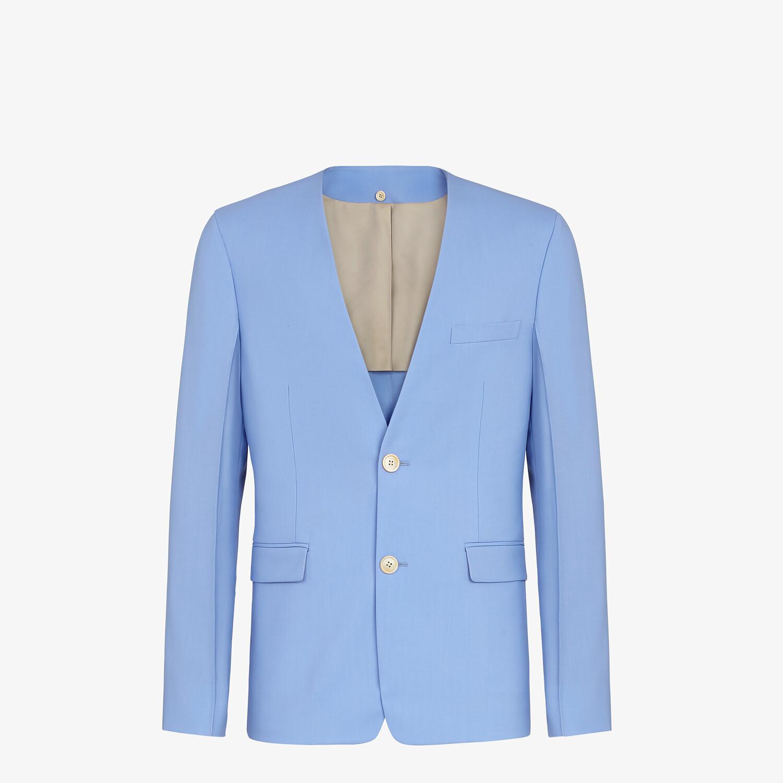 FENDI JACKET - Light blue wool blazer - view 6 detail