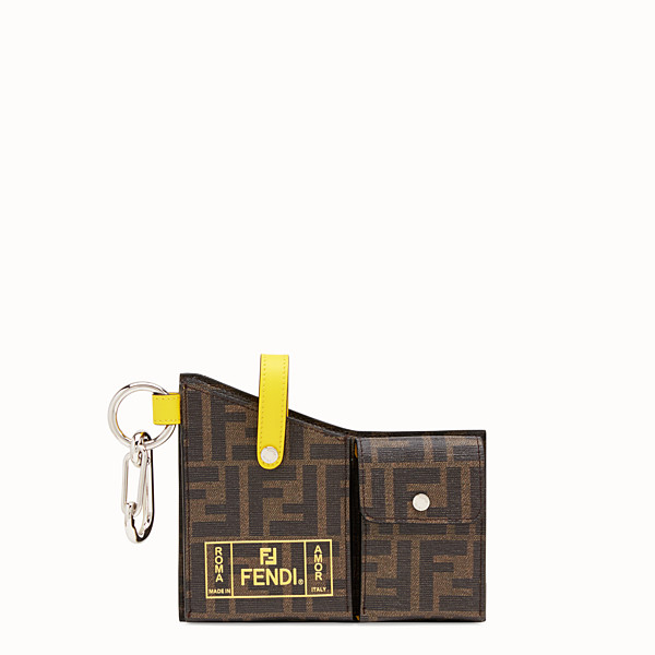 FENDI CHARM WITH POCKETS - Black PU charm - view 1 small thumbnail