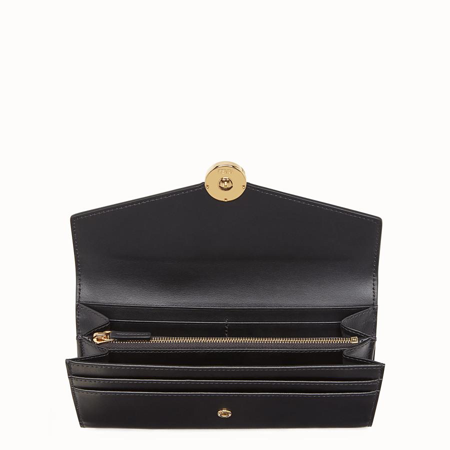 FENDI 장지갑 - 블랙 컬러의 가죽 지갑, 이그조틱 디테일 - view 4 detail