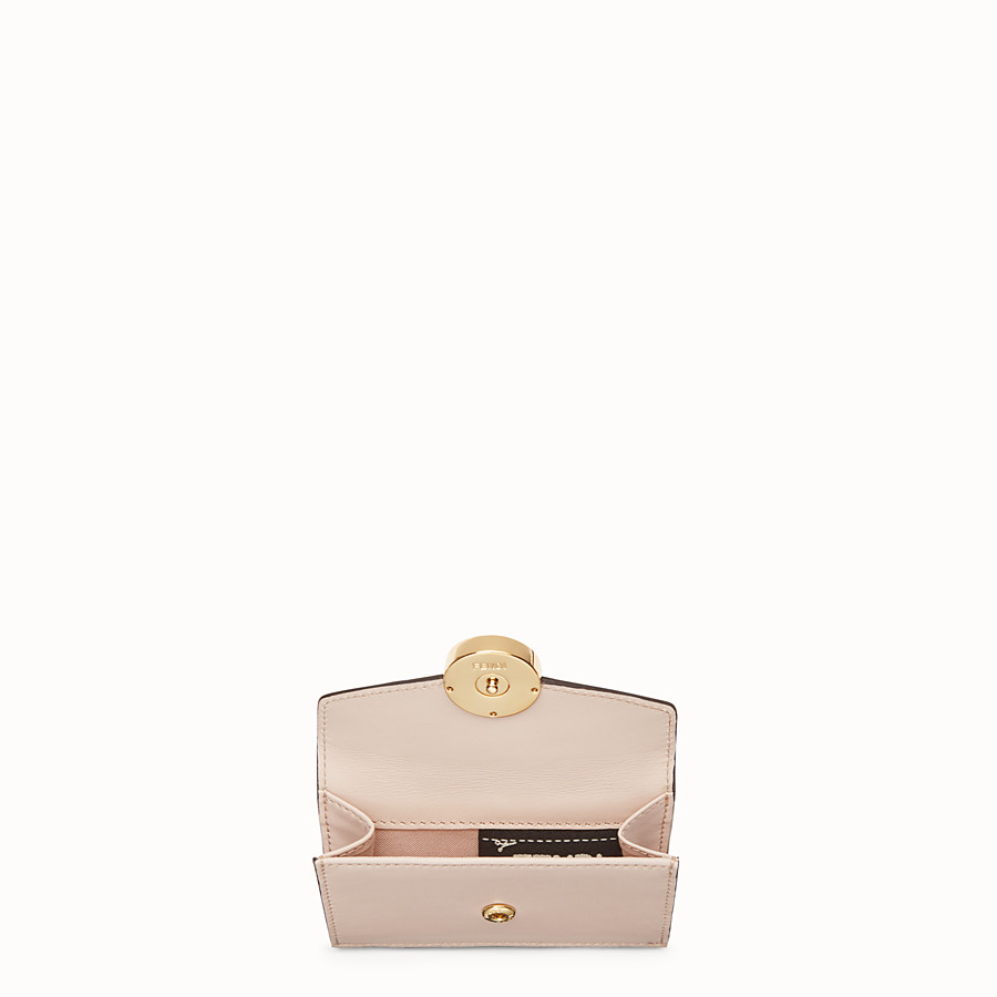 FENDI MICRO TRIFOLD - Pink leather wallet - view 4 detail