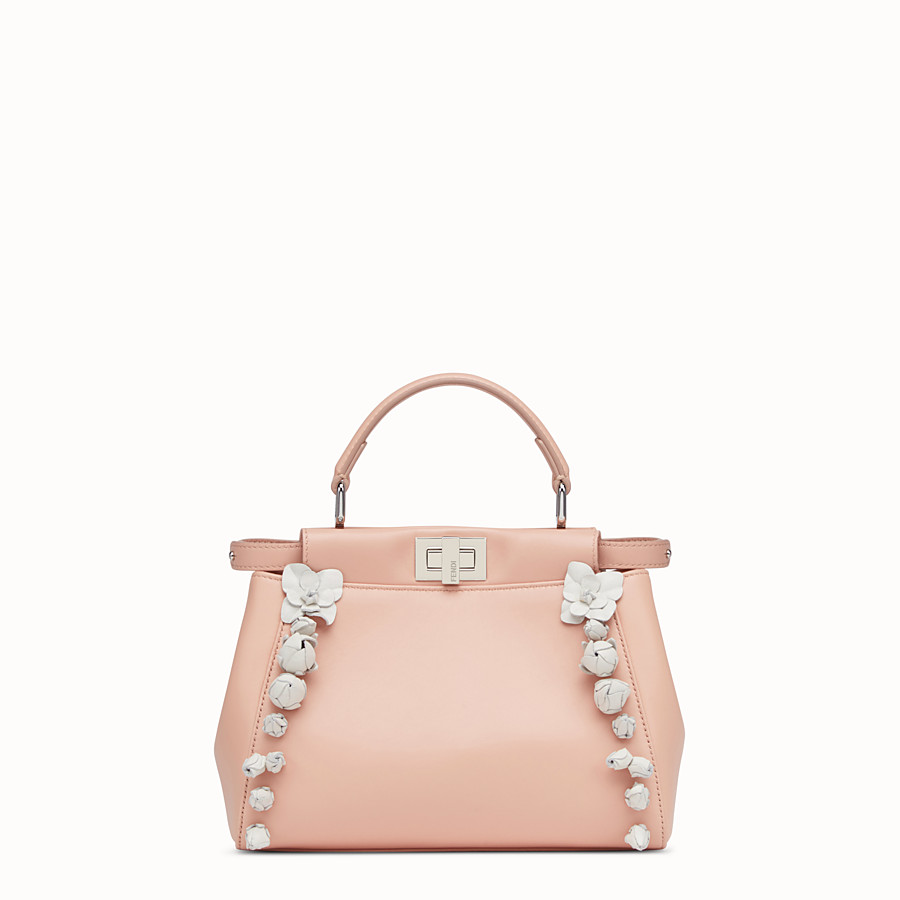 FENDI PEEKABOO - pink nappa leather handbag - view 1 detail