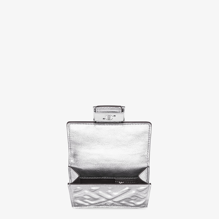 FENDI MICRO TRIFOLD - Silver leather wallet - view 3 detail
