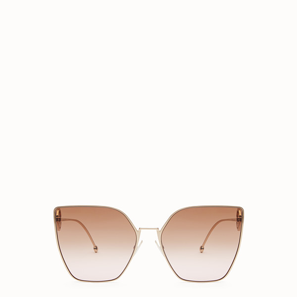 FENDI F IS FENDI - Gold-coloured sunglasses - view 1 small thumbnail
