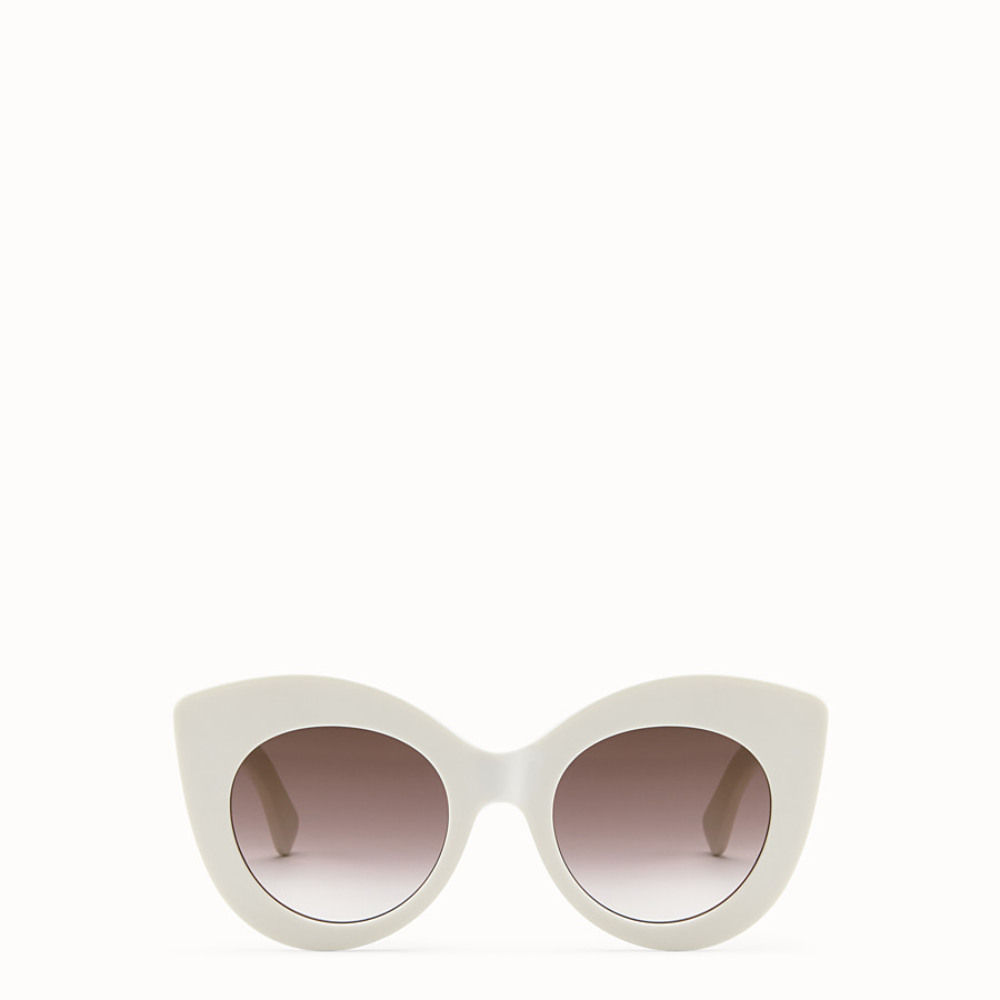 FENDI F IS FENDI - White and brown sunglasses - view 1 detail