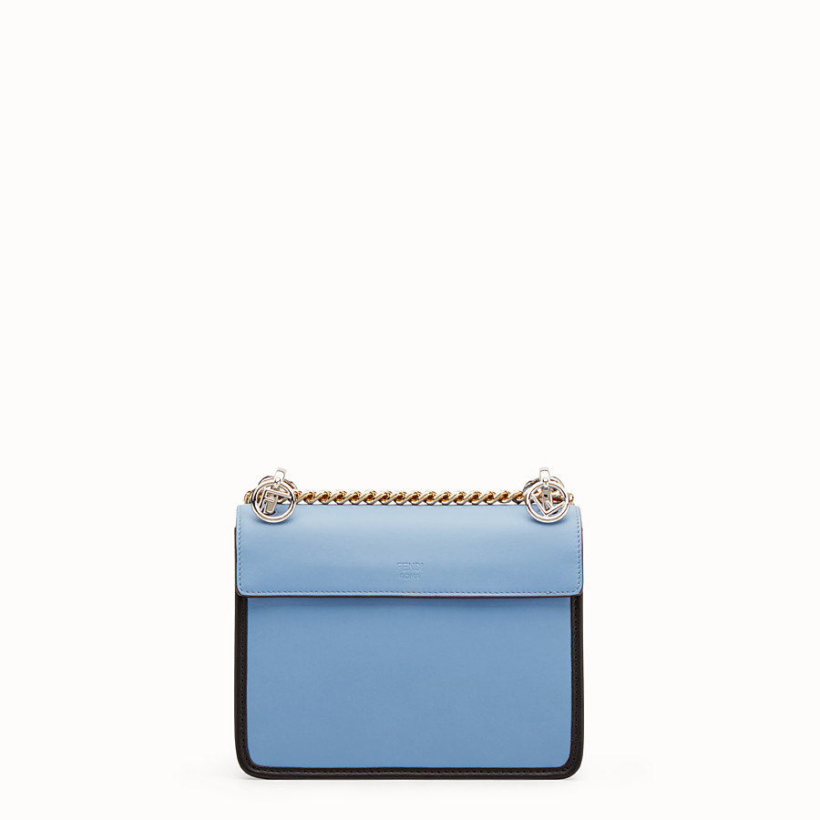 FENDI KAN I F SMALL - Pale blue leather minibag - view 3 detail