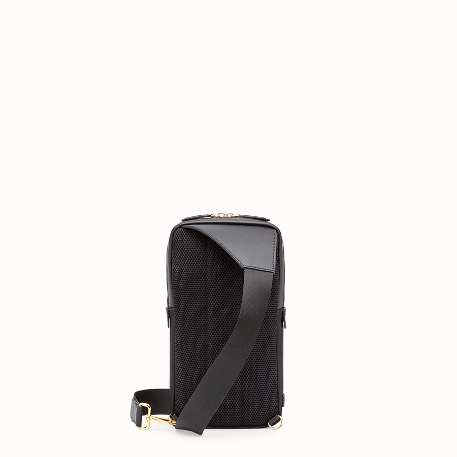 FENDI BELT BAG - Black nylon one-shoulder backpack - view 3 detail