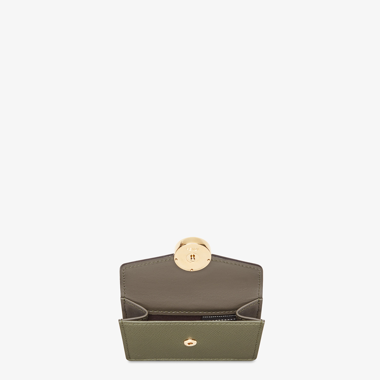 FENDI MICRO TRIFOLD - Portemonnaie aus Leder in Grün - view 3 detail