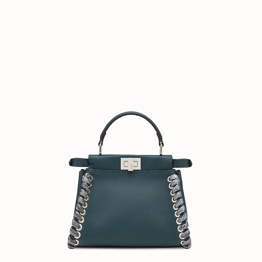 FENDI PEEKABOO MINI - Green Selleria handbag - view 3 detail