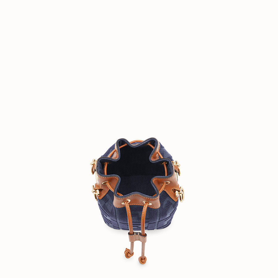 FENDI MON TRESOR - Blue denim mini bag - view 5 detail