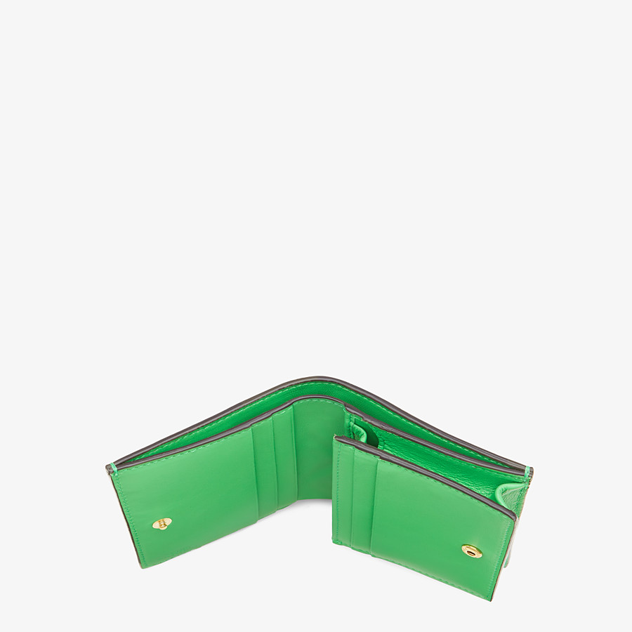 FENDI SMALL WALLET - Green nappa leather wallet - view 4 detail
