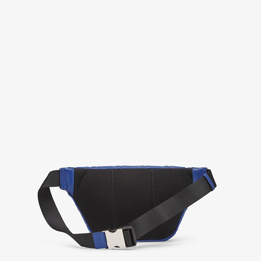FENDI BELT BAG - Blue nappa leather belt bag - view 3 detail