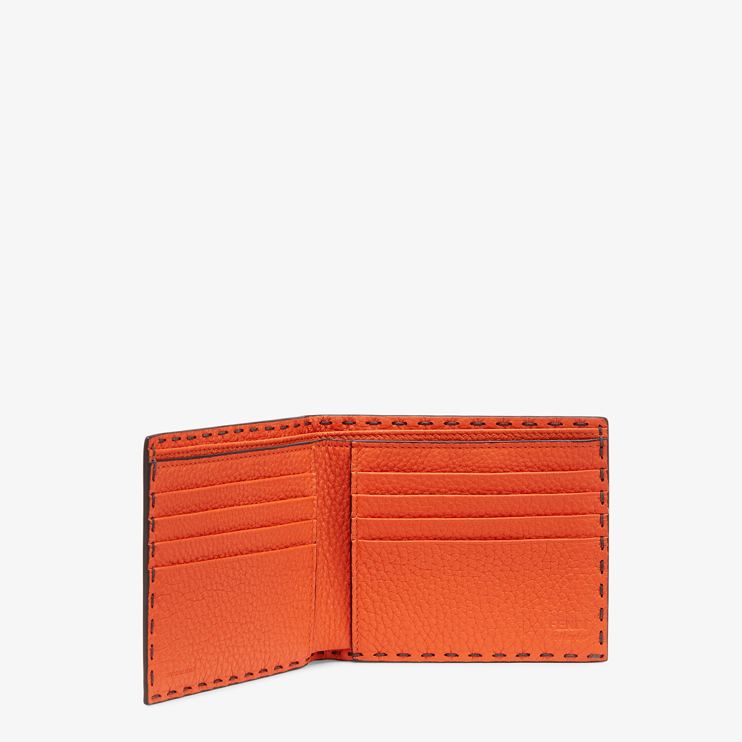 FENDI WALLET - Bi-fold wallet in gray leather - view 3 detail