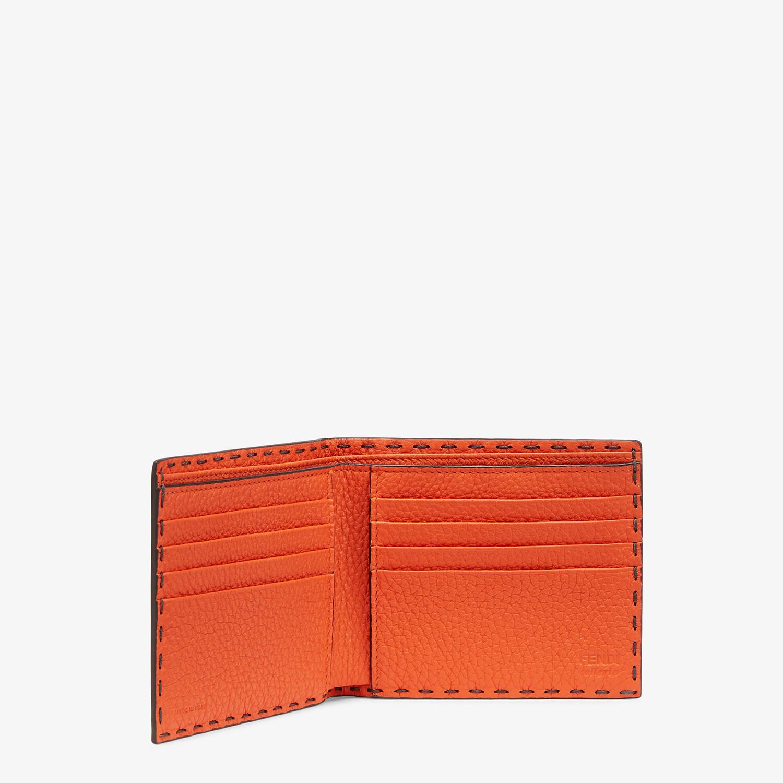 FENDI WALLET - Bi-fold wallet in gray leather - view 3 detail