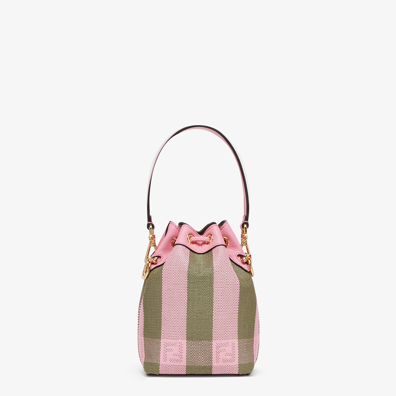 FENDI MON TRESOR - Pink raffia mini bag - view 4 detail