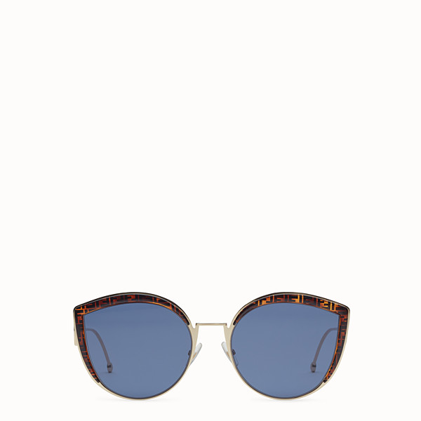 FENDI F IS FENDI - Gold-colored sunglasses - view 1 small thumbnail