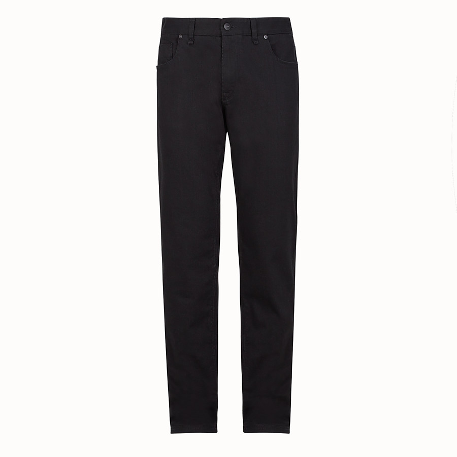FENDI DENIM - Black cotton jeans - view 1 detail