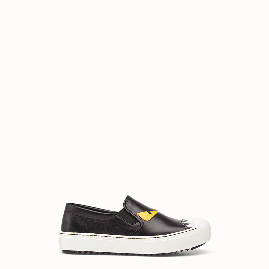 FENDI SNEAKER - Slip on in black calfskin - view 1 detail