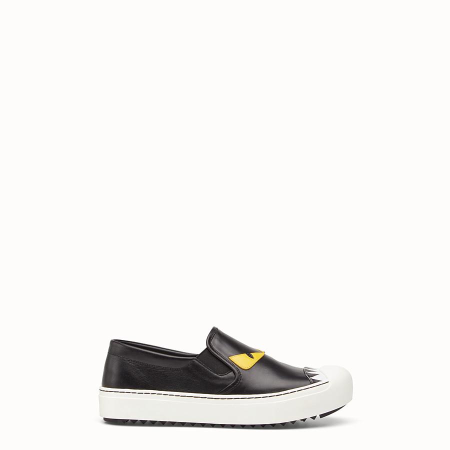 Slip On In Black Calfskin Sneakers Fendi D Island Shoes Mocasine Casual