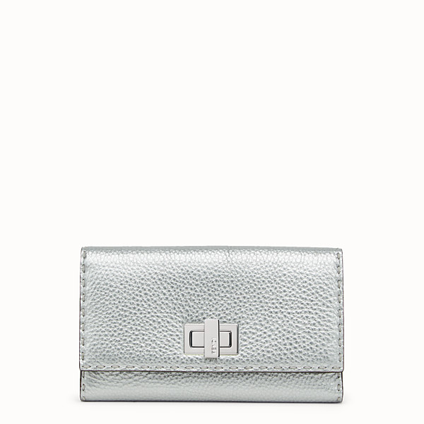 FENDI WALLET - in silver Roman leather - view 1 small thumbnail