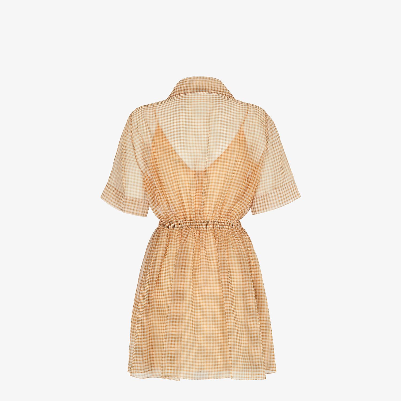 FENDI KLEID - Kleid aus Organza mit Vichykaros - view 2 detail