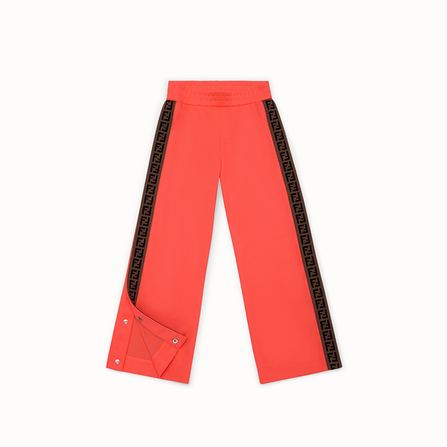 FENDI PANTS - Pink tech fleece trousers - view 2 detail
