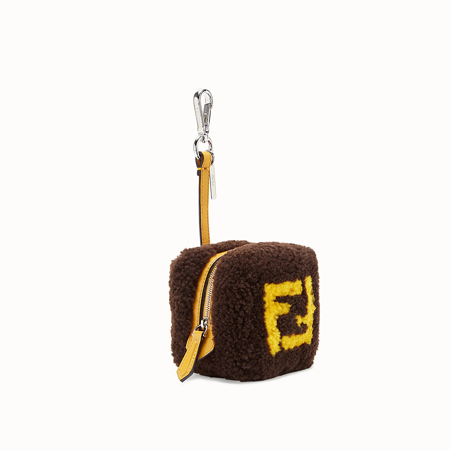 FENDI COIN PURSE - Brown sheepskin charm - view 2 detail