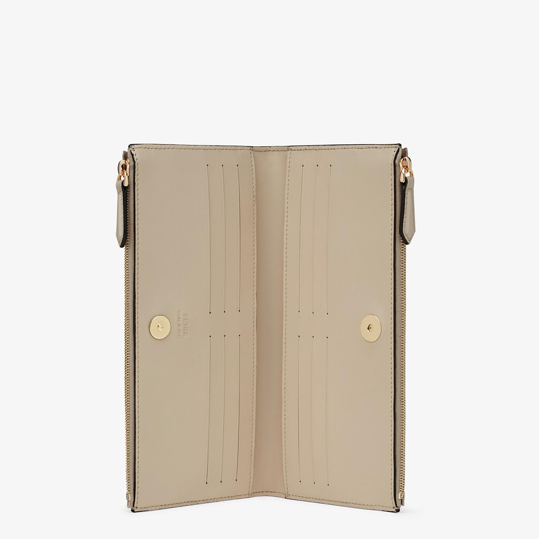 FENDI BIFOLD - Beige leather wallet - view 3 detail