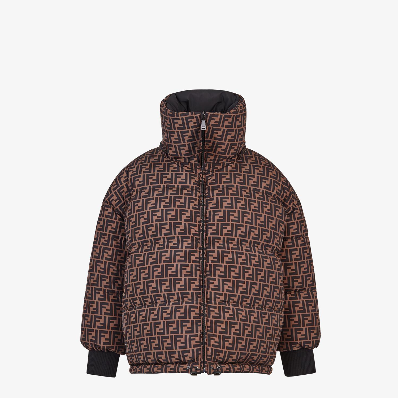 FENDI JACKET - Black nylon down jacket - view 4 detail