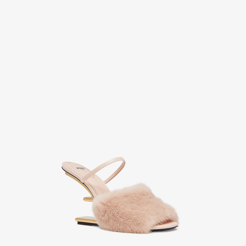 FENDI FENDI FIRST - Pink mink high-heeled sandals - view 2 detail
