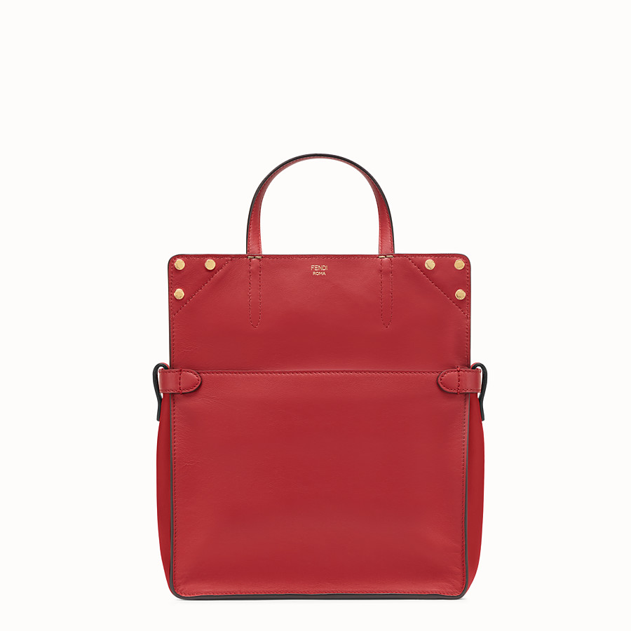 FENDI FENDI FLIP REGULAR - Red leather bag - view 2 detail