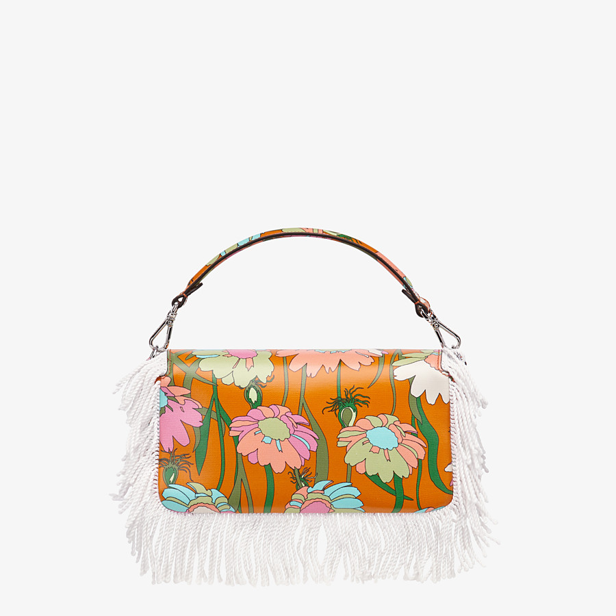 FENDI BAGUETTE - Orange fabric bag - view 3 detail