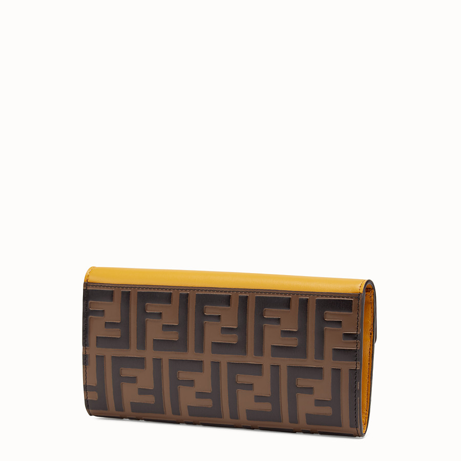 FENDI CONTINENTAL - Yellow leather wallet - view 2 detail
