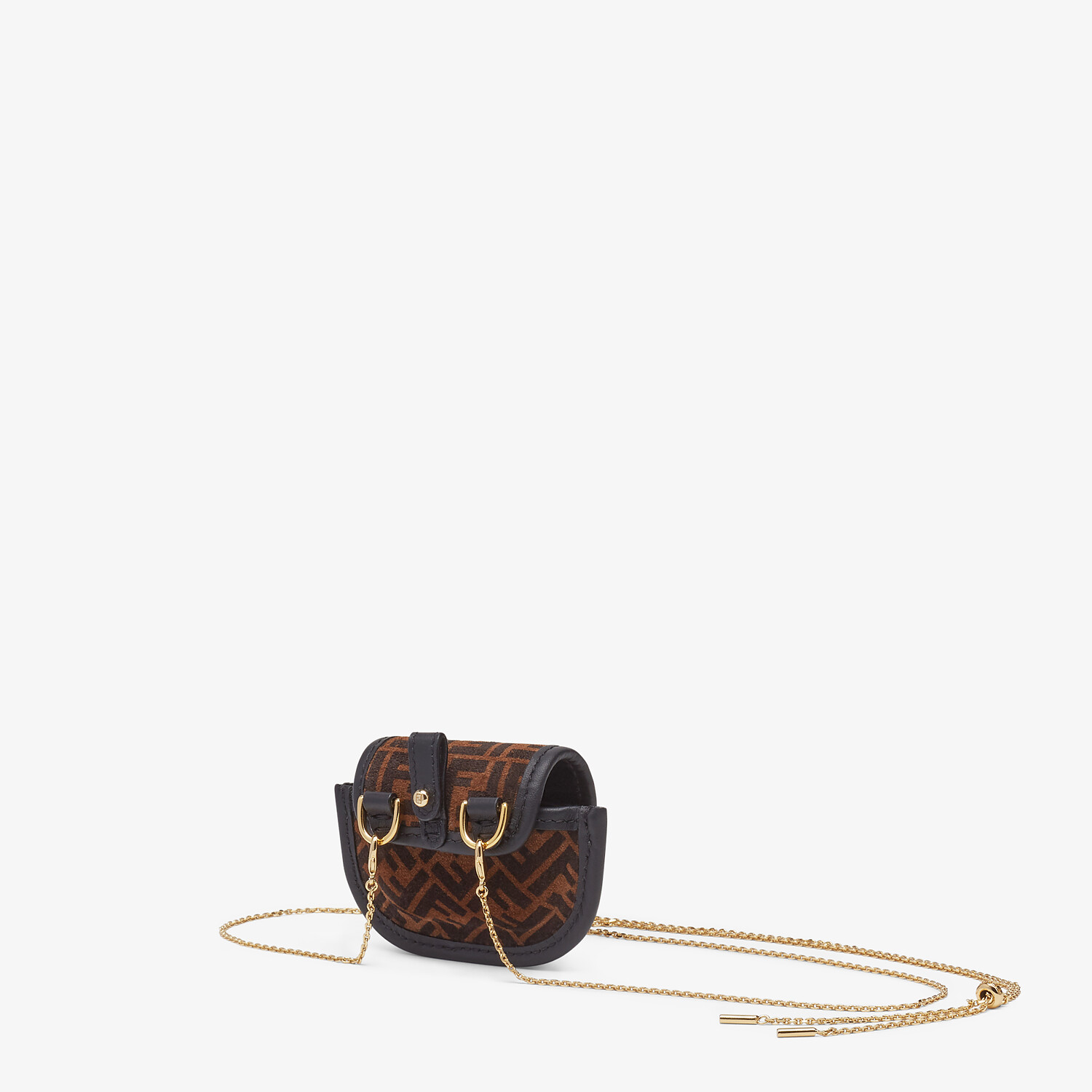 FENDI PICO BAGUETTE CHARM - Brown leather charm - view 2 detail