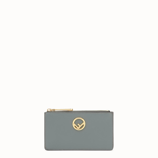 FENDI CARD POUCH - Green leather pouch - view 1 small thumbnail