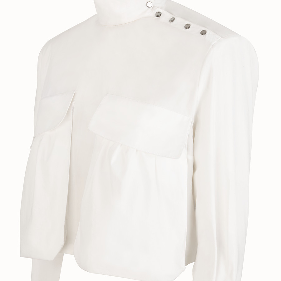 FENDI BLOUSE - White cotton blouse - view 3 detail