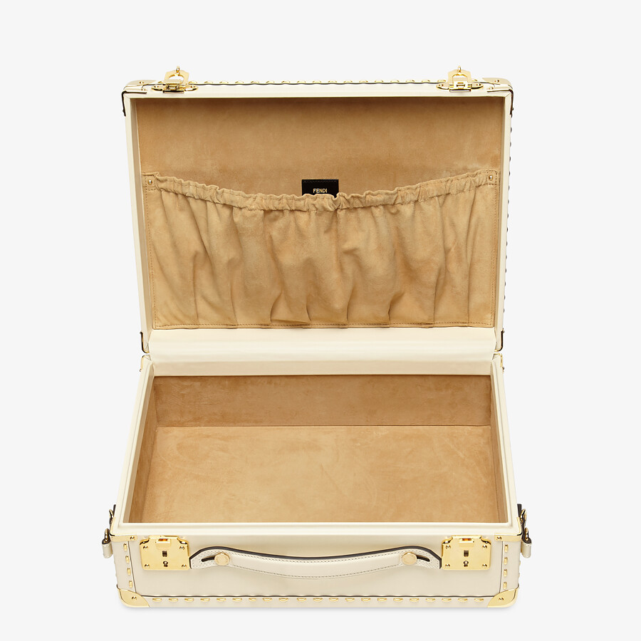 FENDI TRAVEL CASE MEDIUM - White leather suitcase - view 4 detail