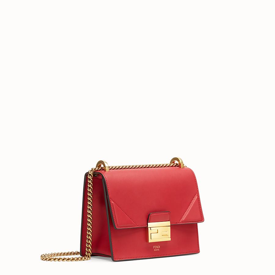 FENDI KAN U KLEIN - Mini-Tasche aus Leder in Rot - view 3 detail