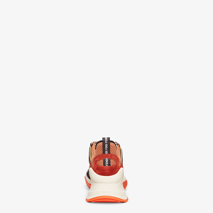 FENDI SNEAKER - Niedriger Sneaker aus Veloursleder in Schwarz - view 3 detail