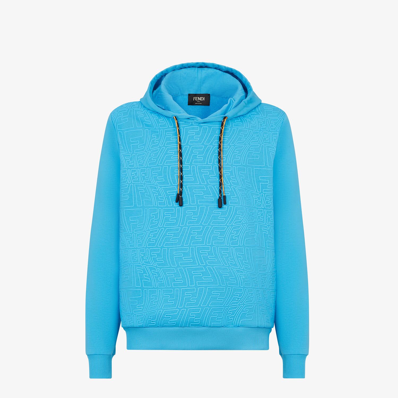 FENDI SWEATSHIRT - Light blue jersey sweatshirt - view 1 detail