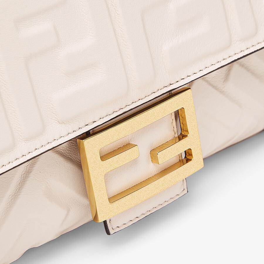 FENDI BAGUETTE - Camellia nappa leather bag - view 5 detail
