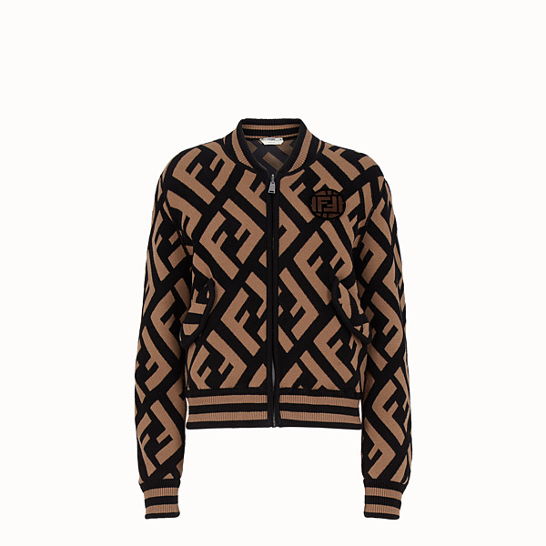 FENDI JACKET - Multicolor wool bomber jacket - view 1 small thumbnail