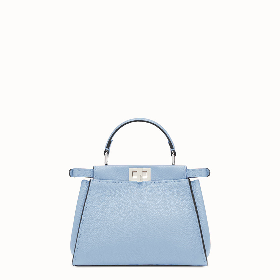 FENDI PEEKABOO MINI - Light blue leather bag - view 3 detail