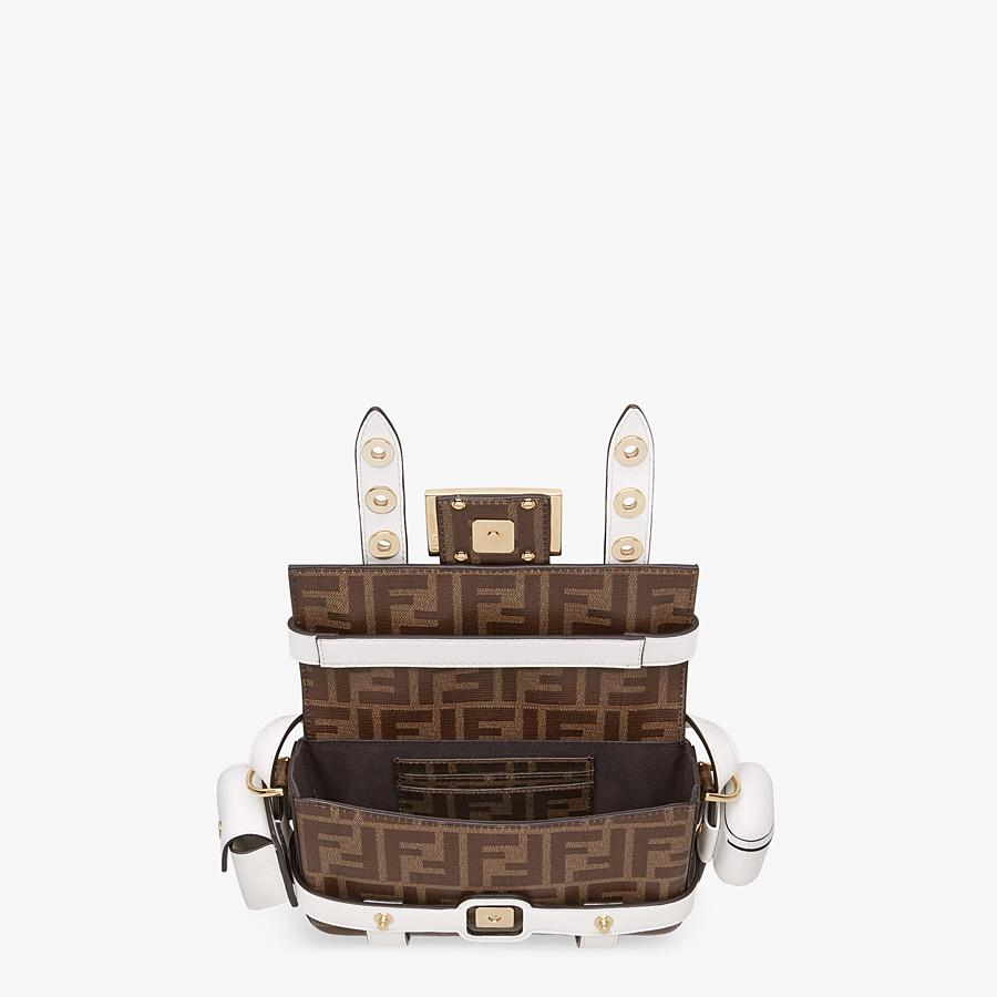 FENDI BAGUETTE MINI CAGE - Tasche aus Leder und Stoff Mehrfarbig - view 6 detail