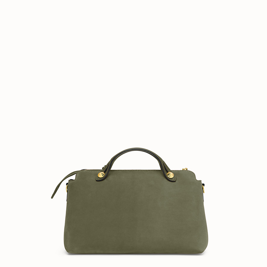 FENDI BY THE WAY MEDIUM - Green suede Boston bag - view 4 detail